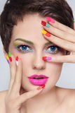 Manicure junkie Stock Photography