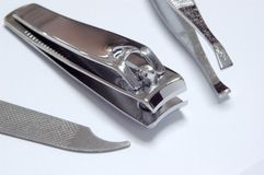 Manicure Kits. Nail file, Nail Cutter and Clipper Stock Photography