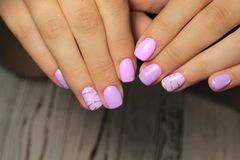 manicure with long nails stock image
