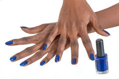 Manicure and makeup concept. royalty free stock photo