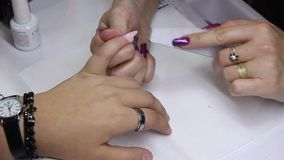 Manicure stock video