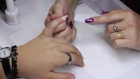 Manicure stock video