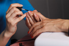 Manicure master at work Stock Photo