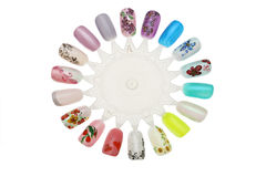 Manicure nail design Stock Photography