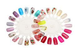 Manicure nail design Royalty Free Stock Image