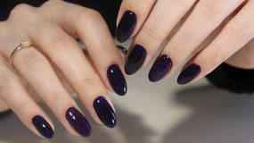 Manicure nail design royalty free stock photos