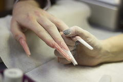 Manicure,nail extension Stock Photo