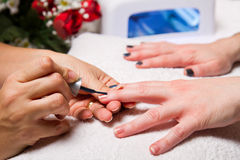 Manicure nail Stock Photo