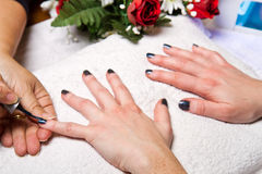 Manicure nail Royalty Free Stock Photos