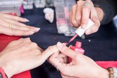 Manicure nail paint. Stock Image