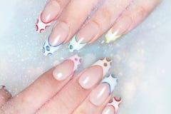 Manicure nail paint stock photos