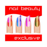 Manicure Nail polish. Color Royalty Free Stock Photos
