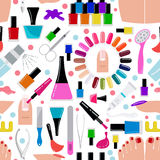Manicure, nail salon. Seamless pattern. Vector illustration royalty free illustration