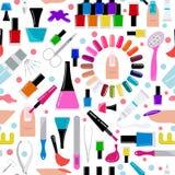 Manicure, nail salon. Seamless pattern. Vector illustration vector illustration