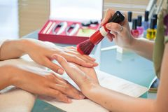 Manicure nails Stock Image