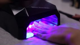 Manicure Nails UV Lamp stock video