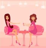Manicure no salão de beleza ilustração stock