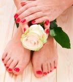 Manicure och pedicure Royaltyfri Fotografi