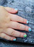 Manicure On Child Stock Images