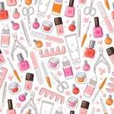 Manicure Pattern Royalty Free Stock Photos