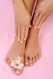 Manicure and pedicure Stock Photo