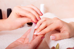 Manicure and pedicure. Body care, spa treatments royalty free stock photography