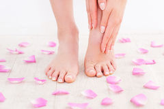 Manicure and pedicure. Royalty Free Stock Images