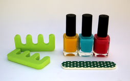 Manicure / Pedicure. Colors for nail tratment, manicure or pedicure Stock Images