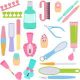 Manicure, Pedicure (Hands, Feet Treatment). A vector set of tools for Manicure, Pedicure (Hands, Feet Treatment vector illustration