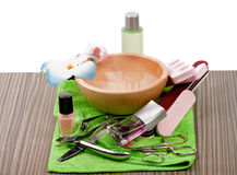 Manicure and Pedicure Set Royalty Free Stock Images