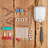 Manicure and pedicure tools Royalty Free Stock Photos