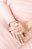 Manicure perfetto di lusso fotografia stock