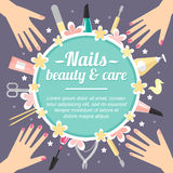 Manicure poster Royalty Free Stock Photo