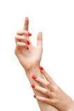 Manicure Poza zdjęcie royalty free