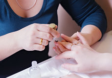 Manicure Procedure Royalty Free Stock Photo