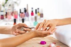 Manicure procedure Royalty Free Stock Image