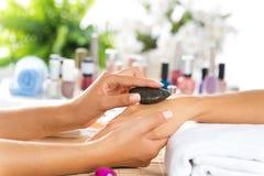 Manicure procedure Stock Photos