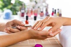 Manicure procedure Stock Images