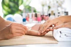 Manicure procedure Stock Image