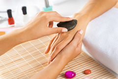 Manicure procedure Royalty Free Stock Image