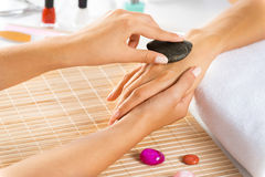Manicure procedure Royalty Free Stock Images