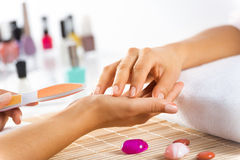 Manicure procedure Royalty Free Stock Photos