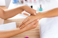 Manicure procedure Royalty Free Stock Photography