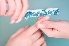 Manicure process Stock Photo
