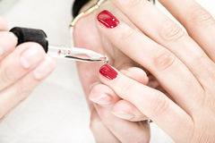 Manicure process Royalty Free Stock Images