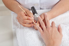 Manicure process. Beauty salon.  Royalty Free Stock Images