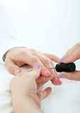 Manicure process in beauty salon Royalty Free Stock Photography