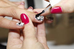 Free Manicure Process, Gel Nail, Close-up, Stock Images - 67228004