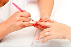 Manicure process Stock Photography