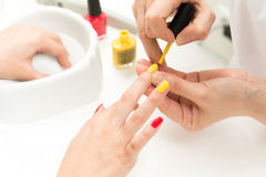 Manicure process shot Royalty Free Stock Image
